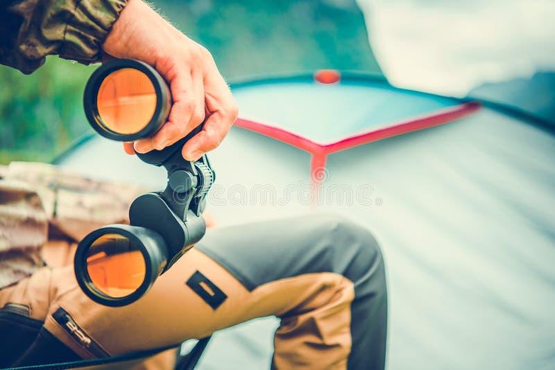 Wildlife Viewing with Binoculars stock photography