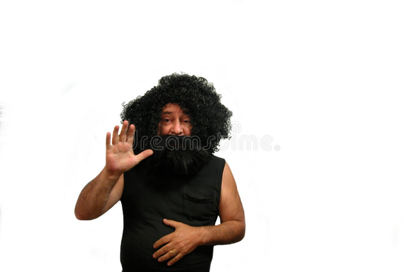 Download Wildman stock photo. Image of waving, person, male, hairy - 2737492