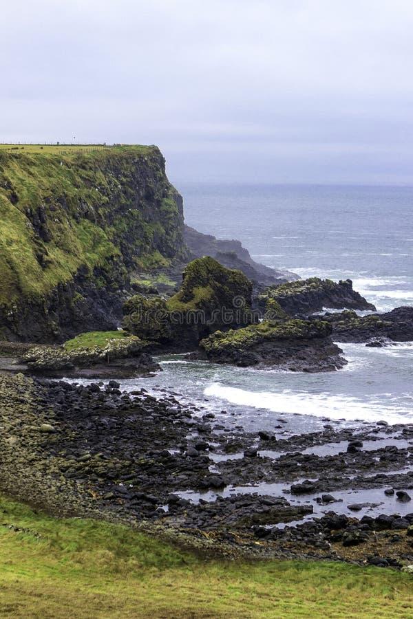 Wildness van het noordenkust in Noord-Ierland royalty-vrije stock fotografie