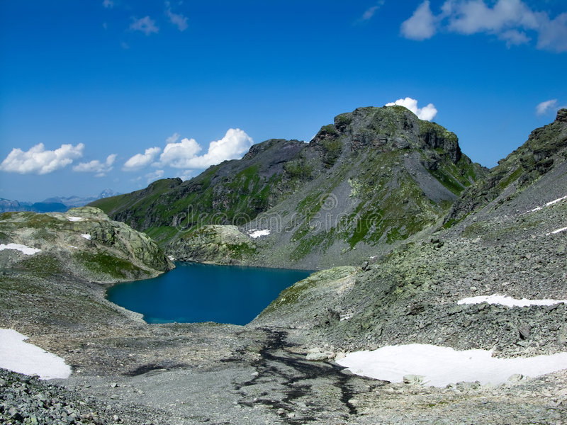 Wildsee lake in Switzerland royalty free stock photography