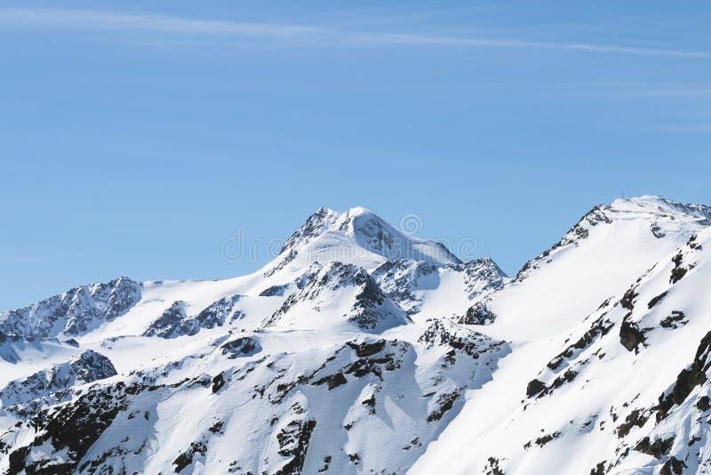 Wildspitze in de Winter, Oostenrijk royalty-vrije stock afbeelding