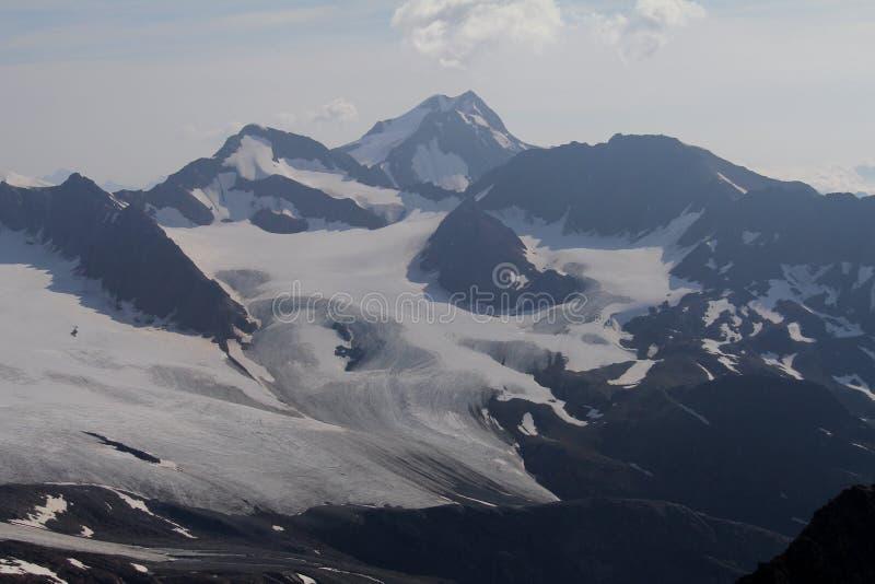 Wildspitze, Otztal-alpen, Oostenrijk royalty-vrije stock afbeelding