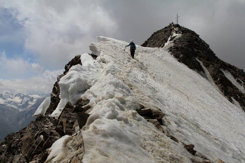 Wildspitzetop in Otztal-alpen, Oostenrijk royalty-vrije stock fotografie