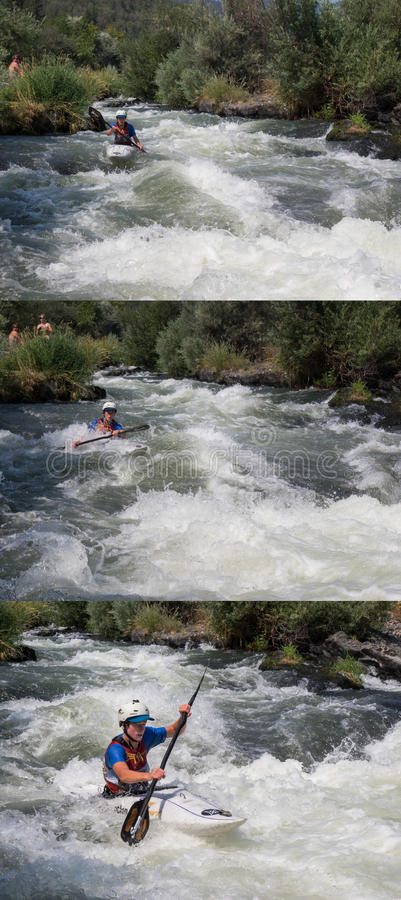 Wildwasserrennen stockfotos