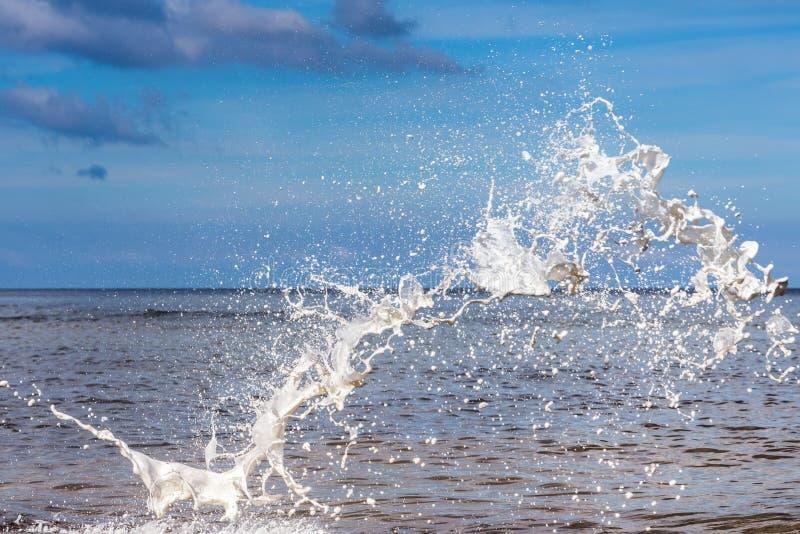 Wildwassertropfen stockfoto