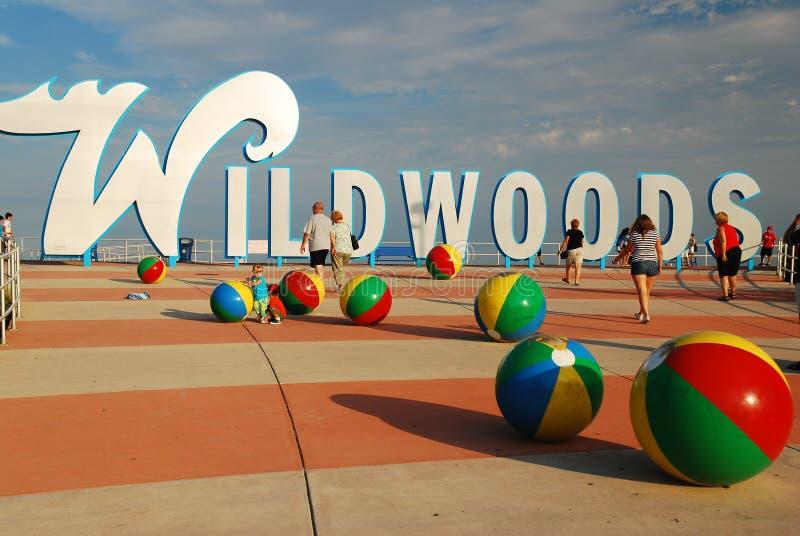 Wildwood海滩,新泽西岸 库存图片