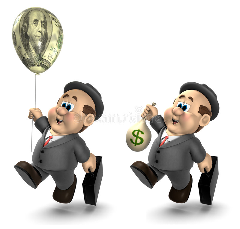 Download Wilfred Gets Paid stock illustration. Image of affluent - 5838584
