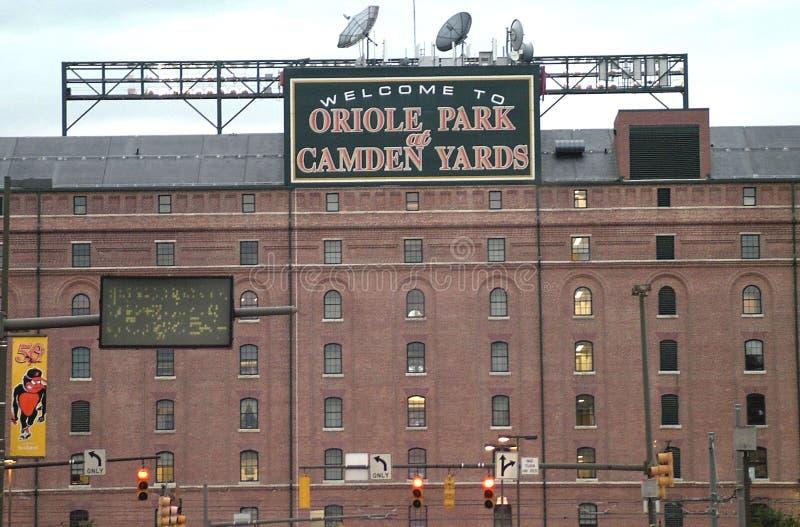 Wilga park przy Camden jardami w Baltimore, Md obraz royalty free