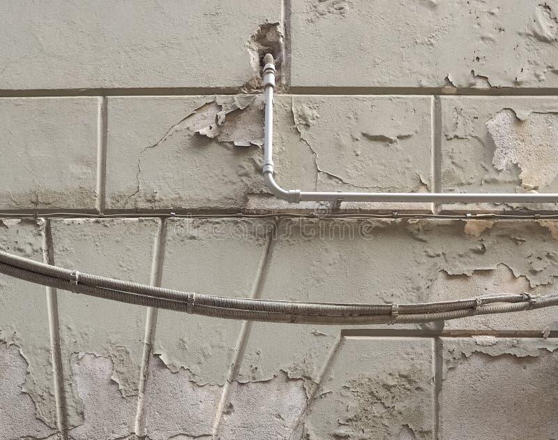 Wilgotna wilgoć na ścianie obraz stock