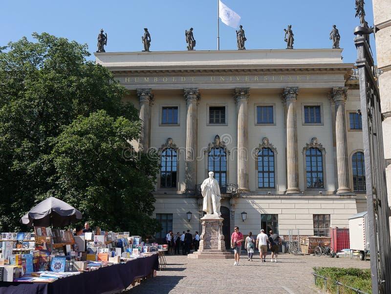 Wilhelm von Humboldt University i Berlin Tyskland royaltyfri bild