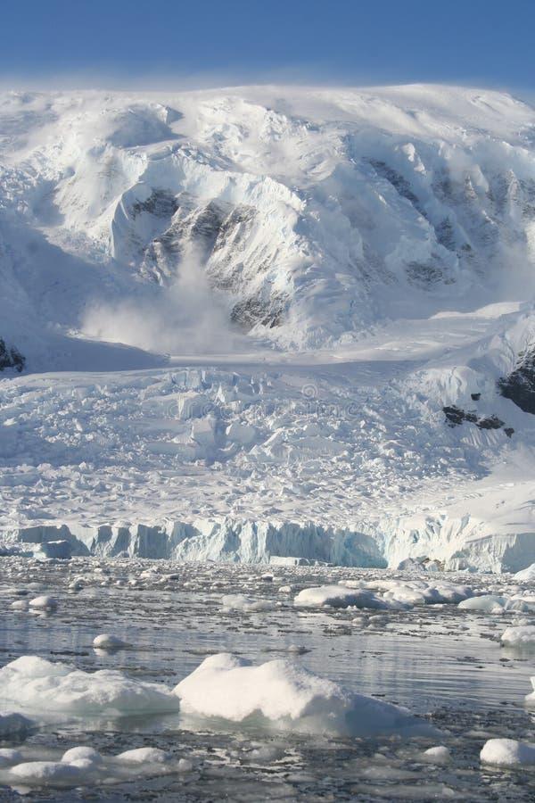 wilhelmina залива Антарктики стоковое изображение rf