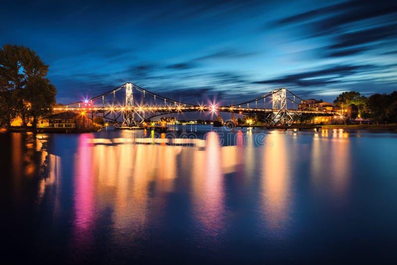 Wilhelmshaven Kaiser Wilhelm Bridge Allemagne images stock