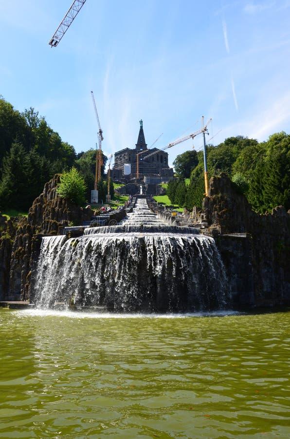 Wilhelmshoehe kasztelu park w Kassel fotografia royalty free