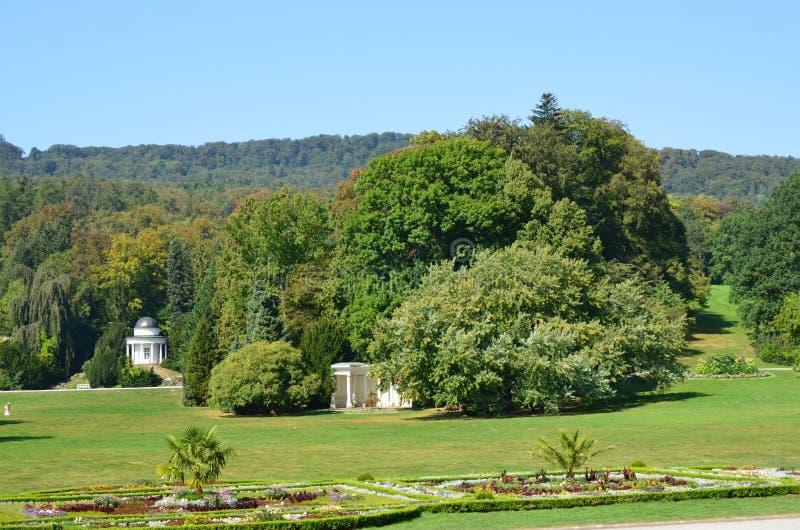 Wilhelmshoehe kasztelu park w Kassel zdjęcie royalty free