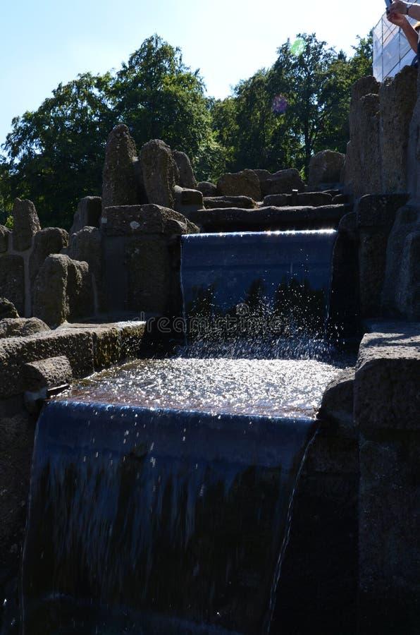 Wilhelmshoehe kasztelu park w Kassel obraz royalty free