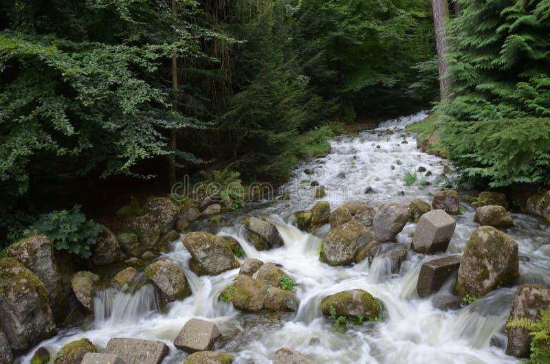 Wilhelmshoehe kasztelu park w Kassel zdjęcia royalty free