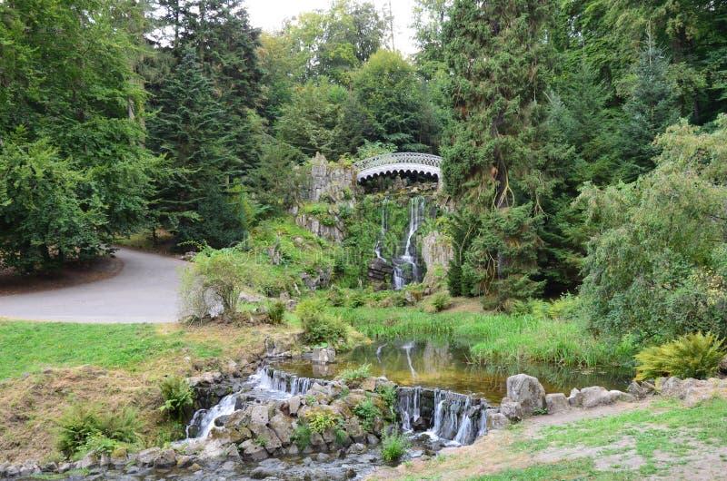 Wilhelmshoehe kasztelu park w Kassel obrazy stock