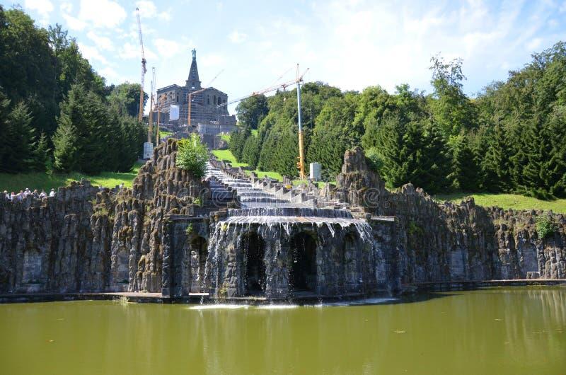 Wilhelmshoehe kasztelu park w Kassel, Niemcy obraz royalty free