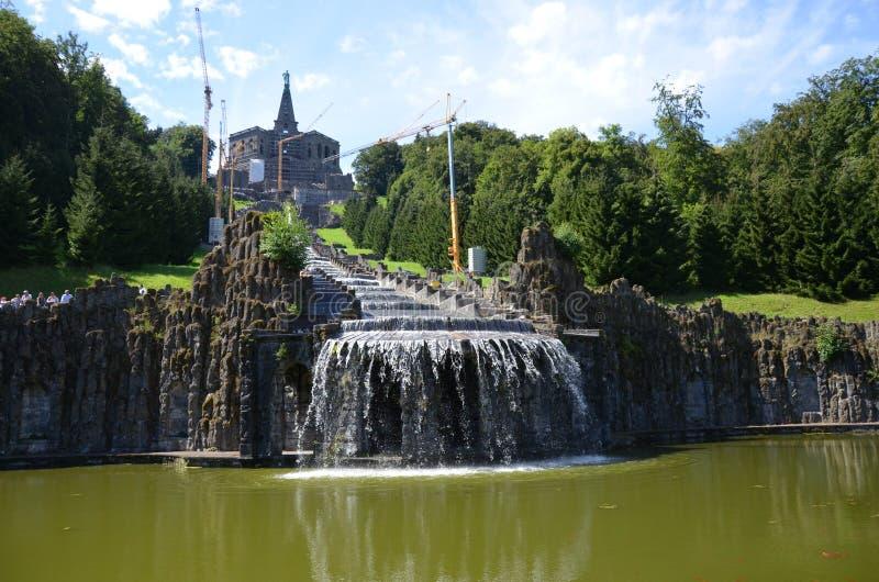 Wilhelmshoehe kasztelu park w Kassel, Niemcy zdjęcie stock