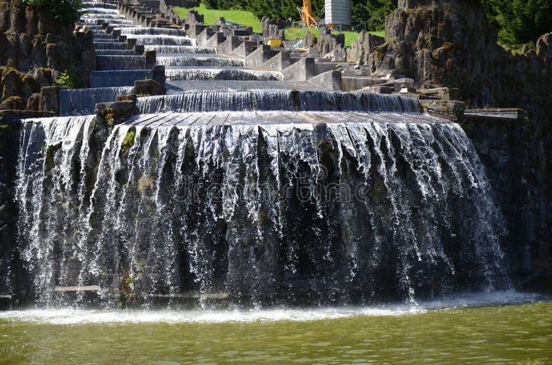 Wilhelmshoehe kasztelu park w Kassel, Niemcy fotografia stock