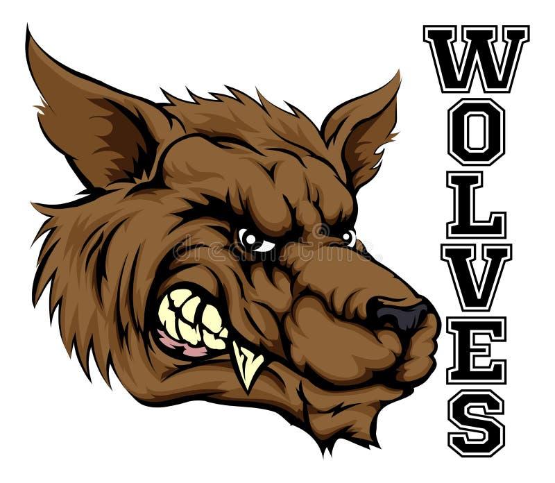 Wilków sportów maskotka ilustracji