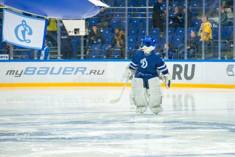 Wilk - symbol hokejowy świetlicowy dynamo Moskwa obrazy royalty free