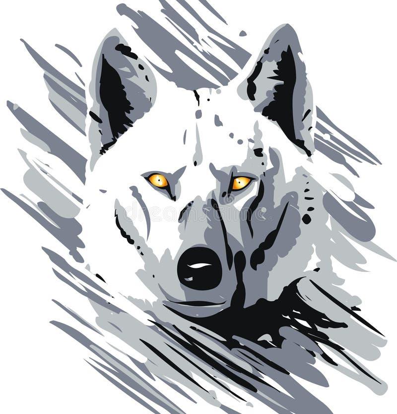 wilk wektor ilustracji