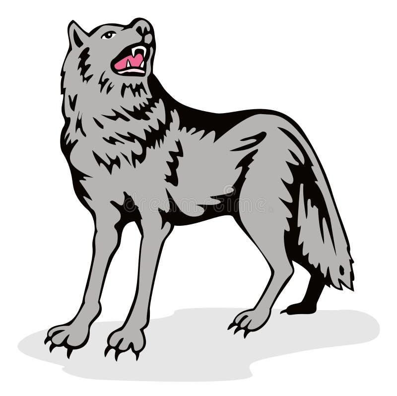wilki wycie ilustracja wektor