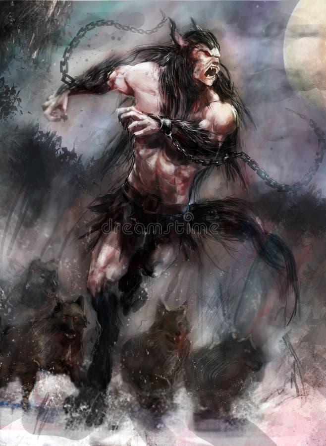 wilkołak royalty ilustracja