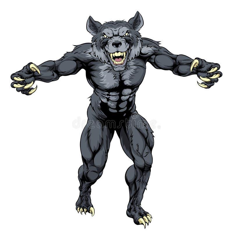 Wilkołak maskotka ilustracji