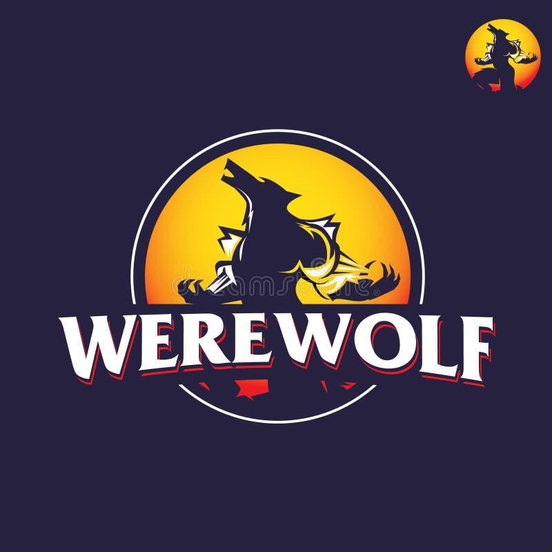Wilkołaka logo ilustracja ilustracja wektor