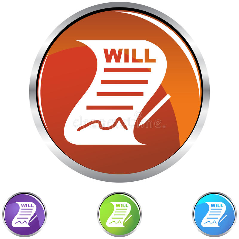 Will. An image representing a Signed Will stock illustration