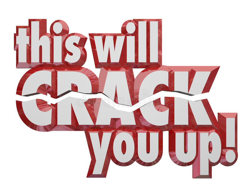 This Will Crack You Up 3d Words Jokes Humor Comedy. This Will Crack You Up words in 3d letters to share humor, jokes, puns, riddles and other amusing messages vector illustration