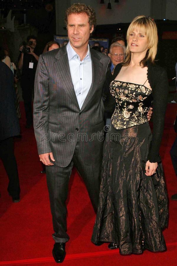 Will Ferrell. And his wife Viveca at Dreamworks' Anchorman The Legend of Ron Burgundy Premiere at Mann's Chinese Theater, Hollywood, CA. 06-28-04 stock image