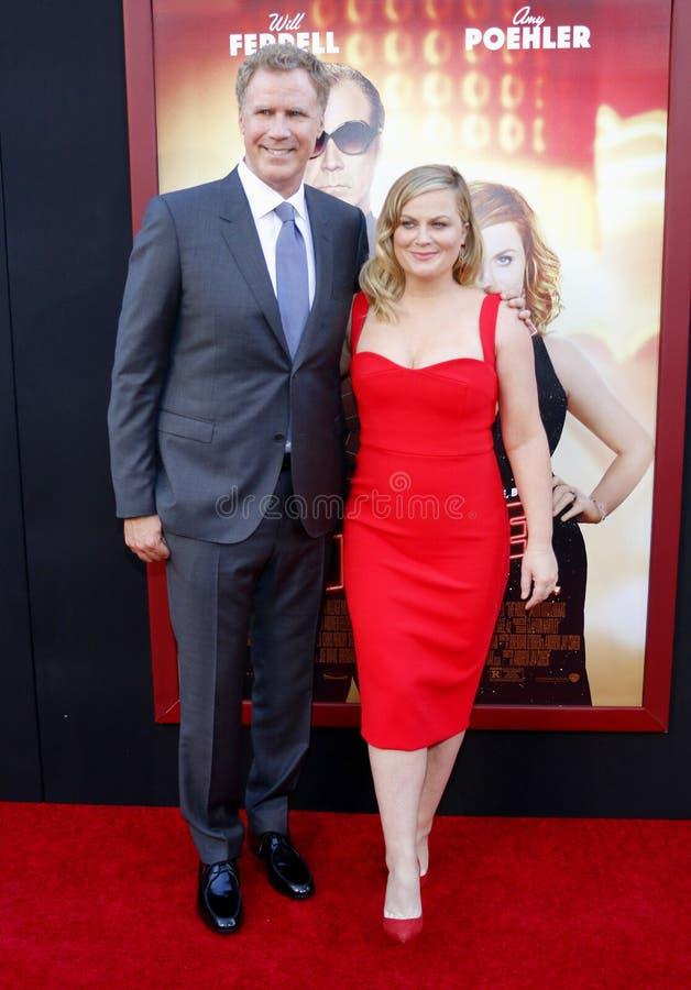 Will Ferrell en Amy Poehler stock afbeelding