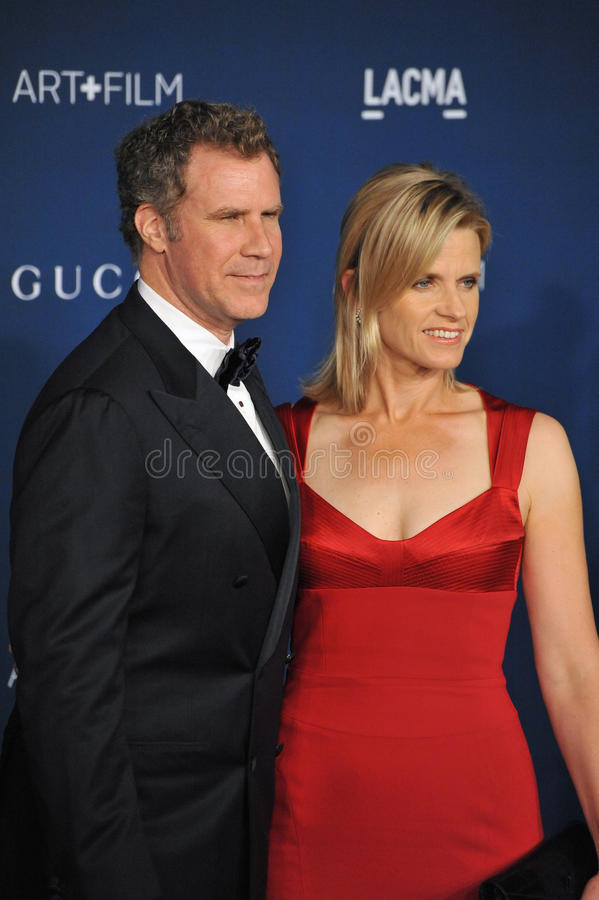 Will Ferrell & Viveca Paulin royalty-vrije stock foto's