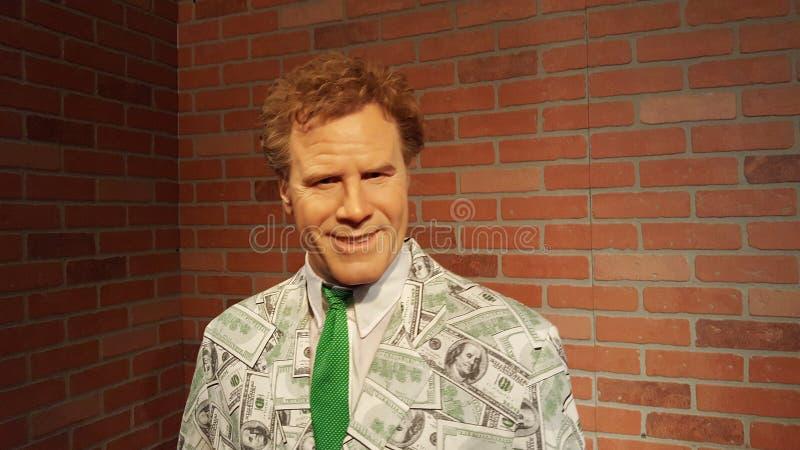 Will Ferrell wosku statua obrazy stock