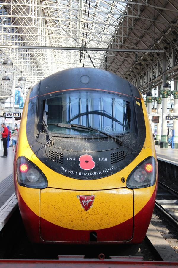 We will remember them - train with special livery stock image