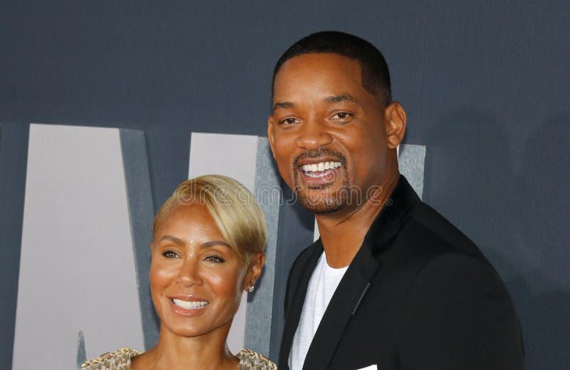 Will Smith and Jada Pinkett Smith royalty free stock photos