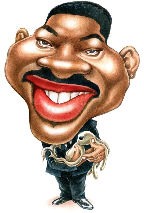 Will Smith-karikatuur stock foto