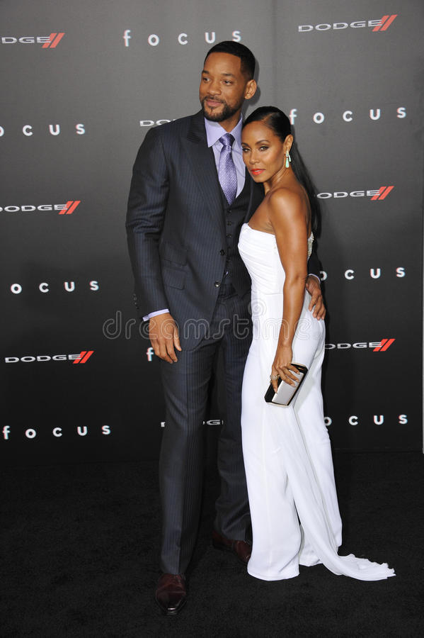 Will Smith Pinkett Smith & Jada zdjęcia royalty free