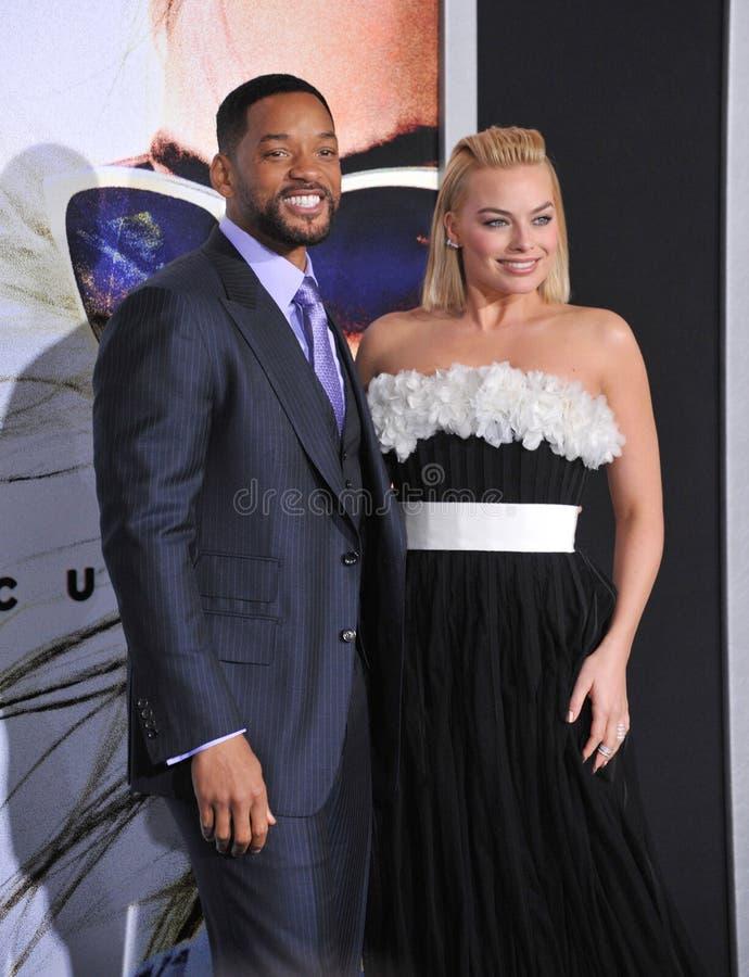Will Smith u. Margot Robbie lizenzfreie stockfotografie