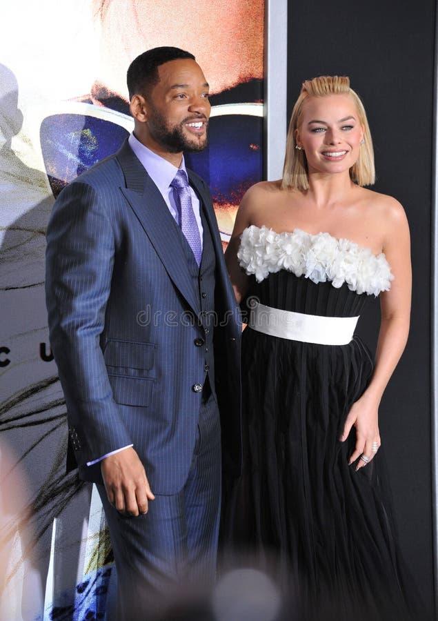 Will Smith u. Margot Robbie stockfoto