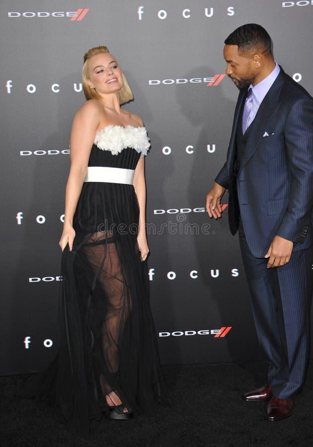 Will Smith u. Margot Robbie lizenzfreies stockfoto