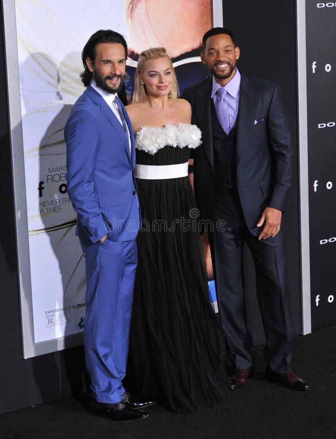 Will Smith u. Margot Robbie u. Rodrigo Santoro lizenzfreie stockfotos