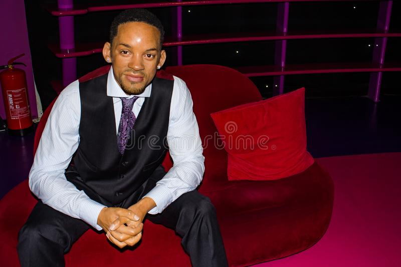 Will Smith vaxstaty, museum Wien för madam Tussauds arkivfoto