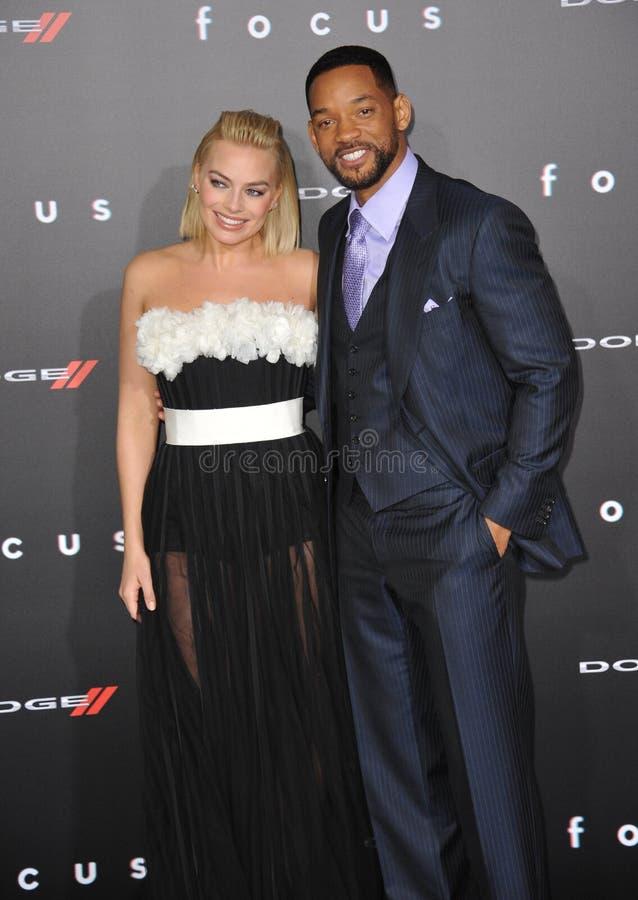 Will Smith y Margot Robbie foto de archivo libre de regalías