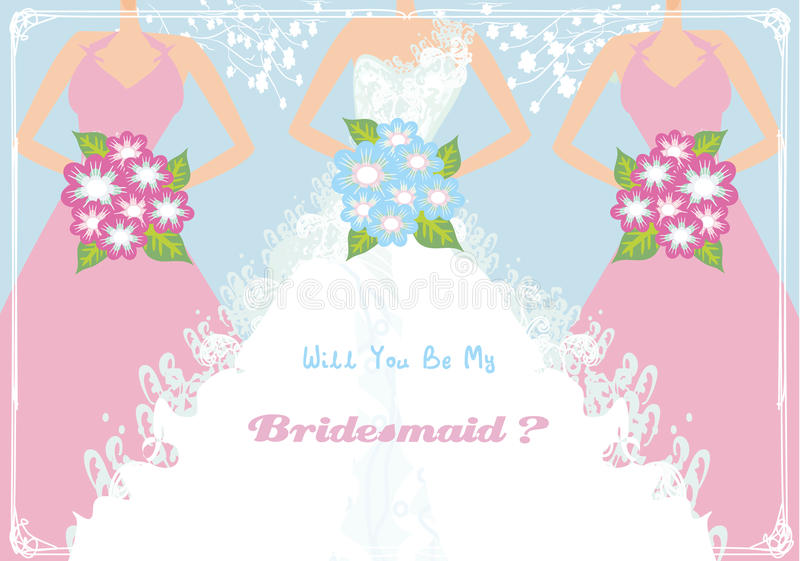 Will You Be My Bridesmaid. Vector Illustration vector illustration