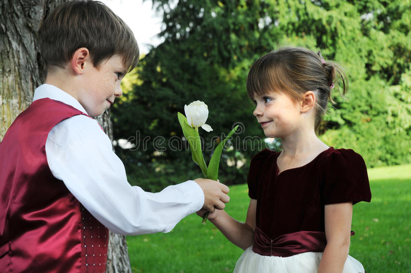 Will You Be My Girl Friend Stock Photo