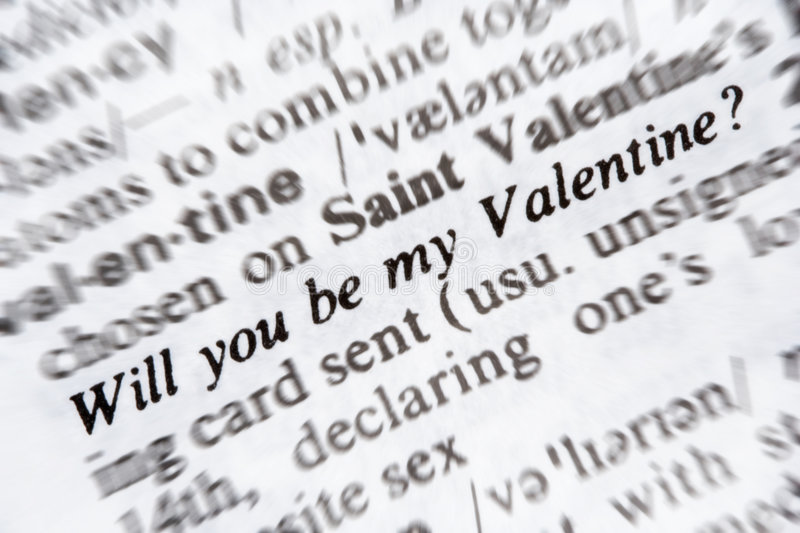 Download Will you be my valentine stock photo. Image of macro, dictionary - 3953360